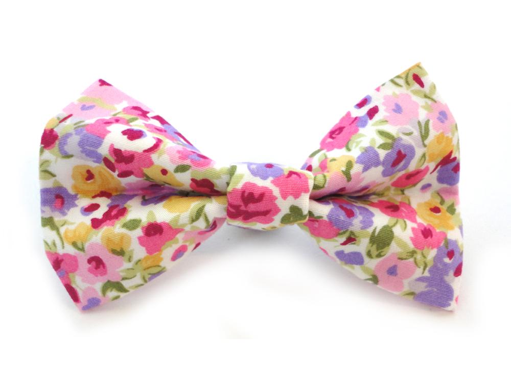 c385483c019f Harris Tweed Hot Pink Dickie Bow | Ditsy Pet